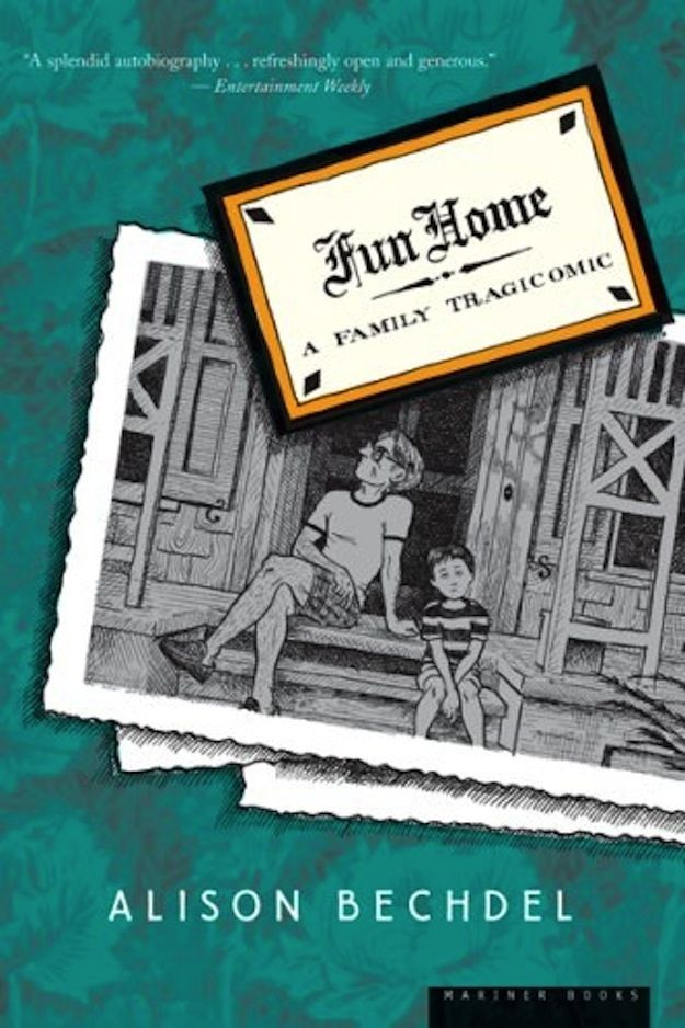 """Fun Home"", by Alison Bechdel - A powerful graphic novel-memoir, Fun Home documents Bechdel's childhood experiences and coming-of-age as a woman and lesbian. At its center lies her heartbreaking relationship with her distant and closeted father, in a childhood presented as a ""still life with children""."