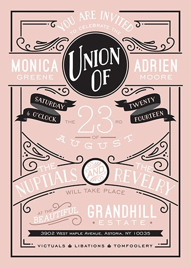 wedding invitations - Romantic Revelry by GeekInk Design