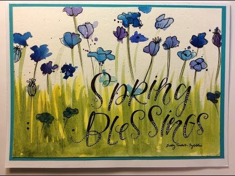 Spring Blessings Watercolor Card - YouTube