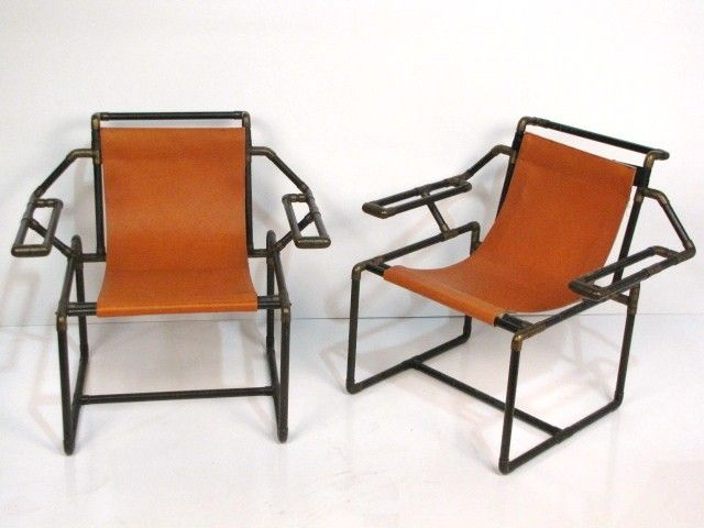 Industrial design copper pipe chairs i want it for Chair design images