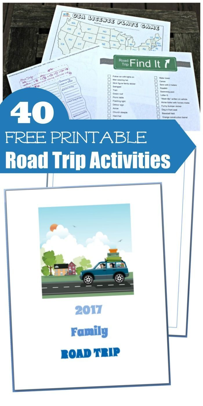 40 free printable road trip activities for kids cars games