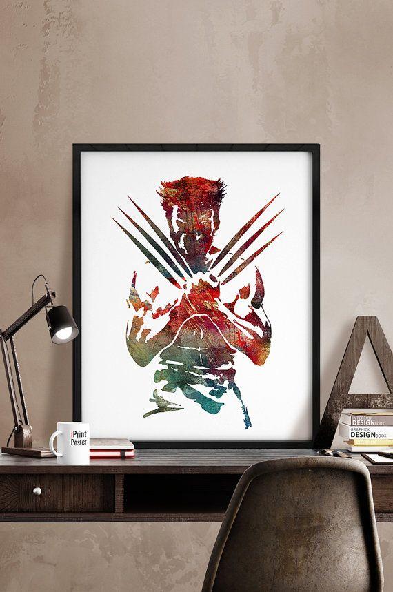 Wolverine poster Wolverine Print x-men x men by iPrintPoster