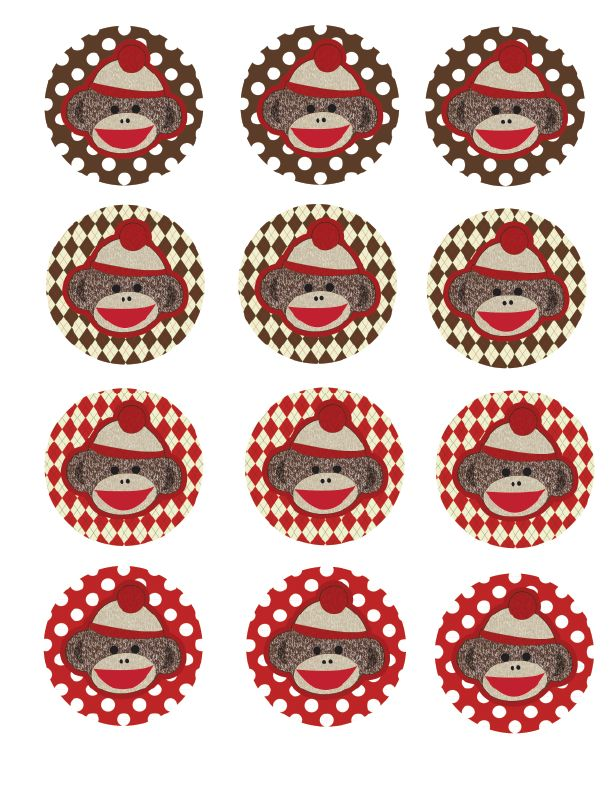 FREE Sock Monkey Baby Shower printables | Tricks of the Motherhood Trade