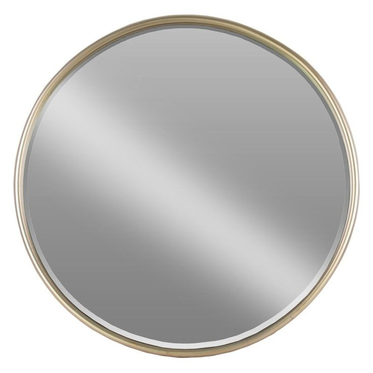 Urban Trends Small Round Mirror with Tubular Frame and Window Box - 32256