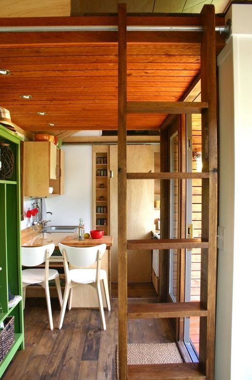 modern rustic interior tiny house design 130 sq ft   Tiny house for the Tall man