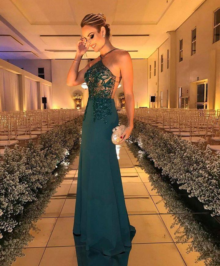 Vestido de festa verde 2017 Madrinha ou formanda