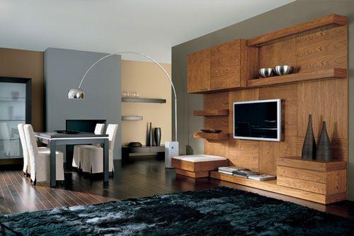 Moderne Wohnwand Holz : Moderne Wohnwand aus Holz LONDON 62 GC di Colombo Giancarlo