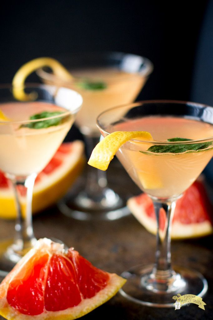 Grapefruit Basil Martini, loved these on our Dayton trip!