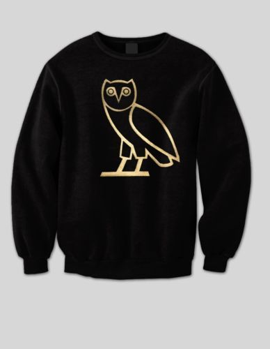 OVO Drake gold owl ovoxo Octobers very own weeknd sweatshirt crewneck