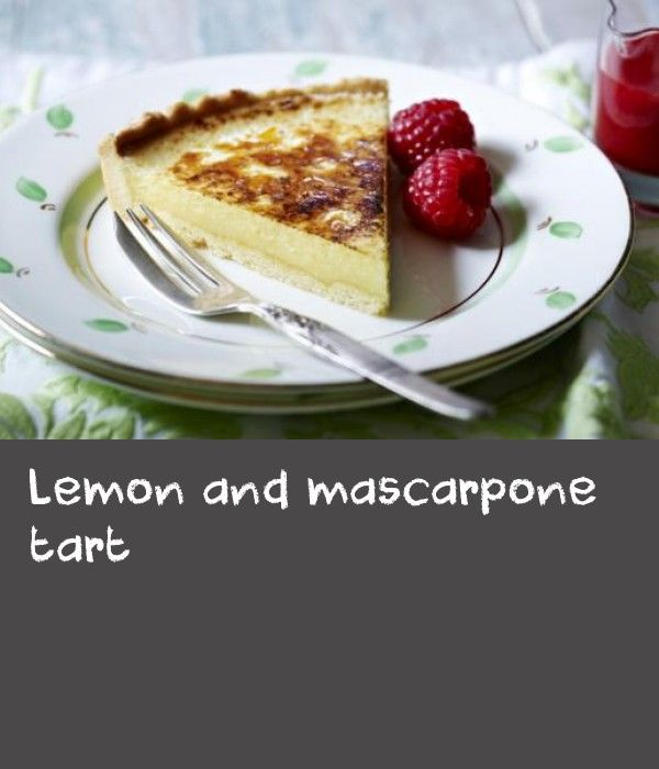 Lemon and mascarpone tart |      Simon Rimmer's cool and creamy lemon tart can be prepared ahead of time and kept in the fridge. Make it extra special with raspberry champagne sauce.