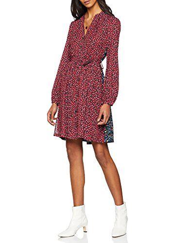 2820c3d172fa French Connection Damen Kleid Aubine Fluid Short Shirt Dress Mehrfarbig  (Mimosa Multi) 40
