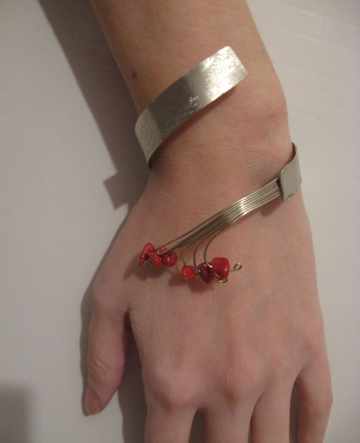 metal & wire handmade bracelet