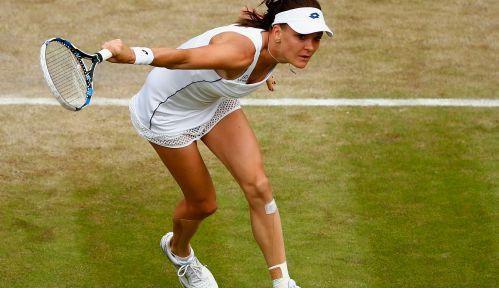 Agnieszka Radwańska w półfinale @Wimbledon! Wygrała z @Madison_Keys 7:6, 3:6 i 6:3. Fot. Getty