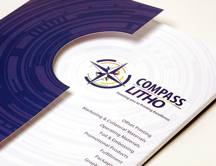 Compass Litho | Presentation Folder | by designthis!