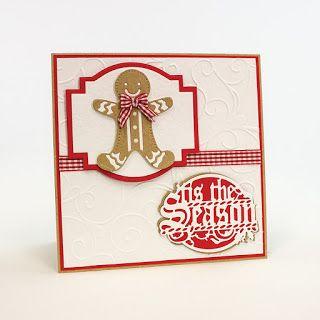 Gingerbread Man Rococo Die,  Deco Geometric Layering Die Set, Tis The Season Frame Die Set, Amelia Embossing Folder