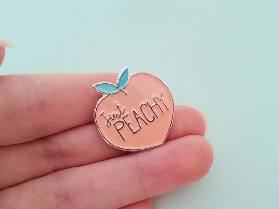 PRE ORDER!  After popular demand i have decided to make more peachy pins, and there are being made as we speak. I hope to be able to ship them with in 2 - 3 weeks, but to be save lets say 3 - 4 To reward you for you patience all pre oders will receive a 15% discount! As soon as the pins are back in stock the price will go back to the regular price!  p.s. If you order anything else from my shop I will send that up ahead :)…