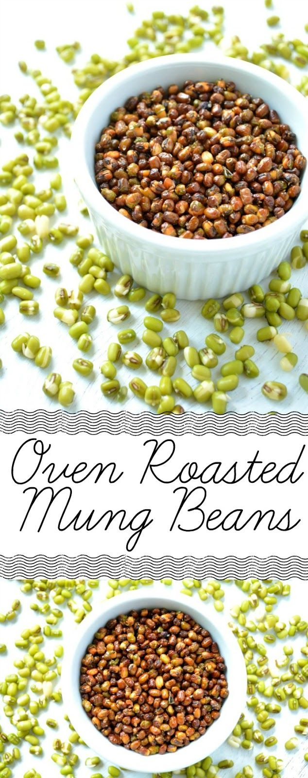 Oven Roasted Moon Dal | Mung Beans. If you like mung bean sprouts, you'll love this one a whole lot more! If you don't factor in the overnight soak, this takes just 20 minutes in the oven. Healthy snack for when the 4 o'clock munchies hit.