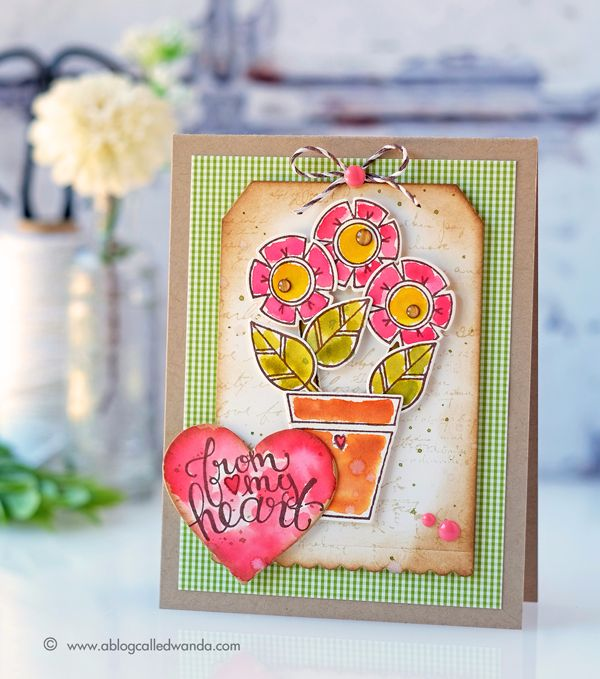 Happy Grams Stamps & Dies by Tammy Tutterow for Spellbinders.  Incredible card by Wanda Guess.