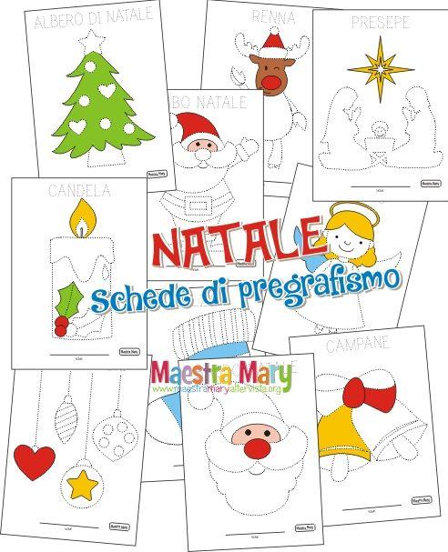 I Simboli Del Natale.Schede Di Pregrafismo Di Natale Natale Schede Natale