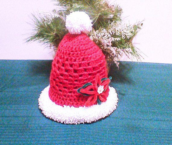 Christmas baby hat baby Santa hat newborn prop by HandmadeTrend