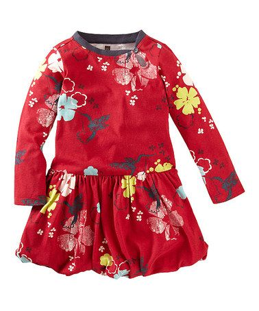 Look what I found on #zulily! Red Hummingbird Bubble Dress - Infant, Toddler & Girls #zulilyfinds