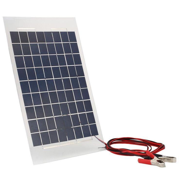 Alta calidad 18 v 10 w cargador solar panel de casa viajando paquete externo de la batería diy para car w/cocodrilo clips de regalo profesional