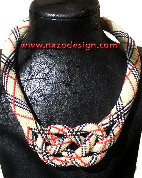 """We have an interesting story over here:    Although the technique that is used to create this necklace is known commonly as """"bead crochet (rope)"""" it has a different name in Turkey. The Turkish name of this technique is """"prison weaving"""" -or if we want to make a mot-a-mot translation it should be """"prison work"""". Why it is called as """"prison work"""" or """"prison weaving""""? Because it is very common for prisoners to create their own crafts by using this technique."""