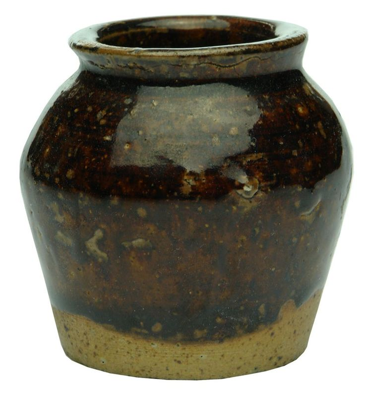 Auction 27 Preview | 302  | Sample Sized Chinese Pottery Bean Jar  sold $100.00