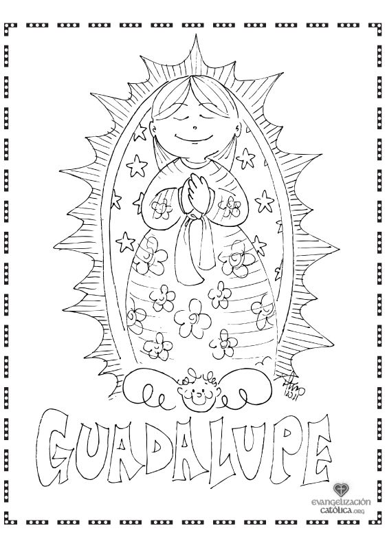 Our Lady of Guadalupe Coloring page!