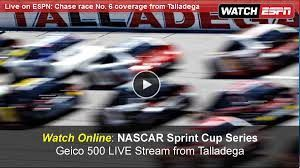 NASCAR Fans, Welcome to Watch NASCAR Sprint Cup GEICO 500 Live Stream Online Race takes place on Sunday, May 07, 2017 at 2 p.m. ET at Talladega SuperSpeedwa