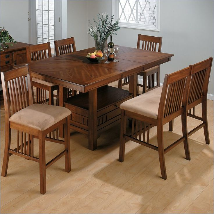Jofran 7 Piece Mission Counter Height Dining