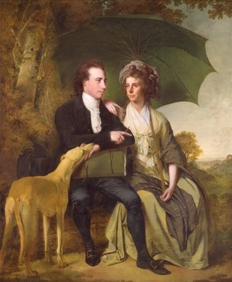The Rev. and Mrs. Thomas Gisborne, of Yoxhall Lodge, Leicestershire by Joseph Wright of Derby, 1786