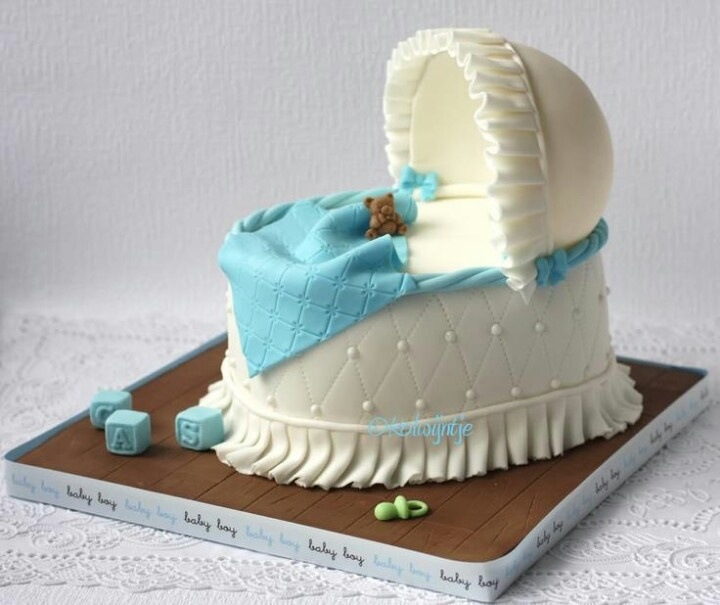 How To Make A Baby Bassinet Cake With Fondant
