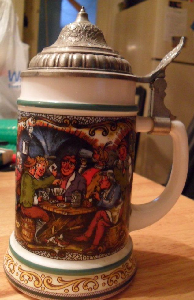 ORIGINAL BMF BIERSEIDEL German Beer Stein Mug Lidded Pub ...