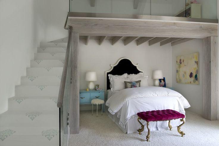 Thompson Custom Homes - girl's rooms - girls room, girls bedroom, loft, bedroom loft, kids loft, kids loft room, loft playroom, loft play ro...