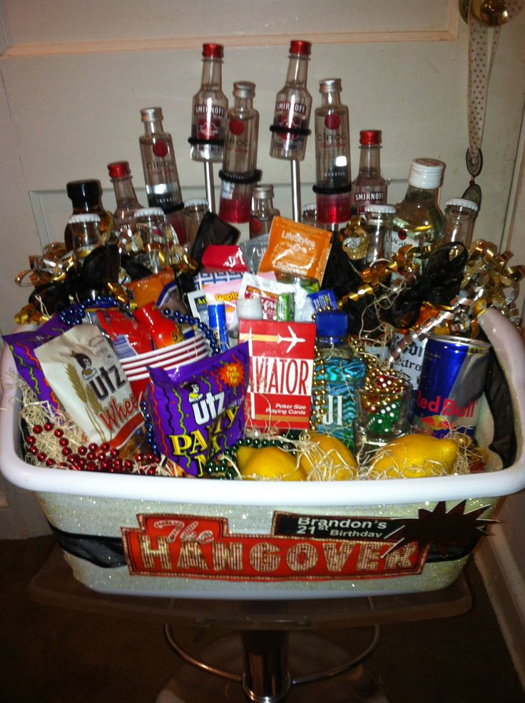 21st Birthday Gift Basket Ideas For Him Hangover Bloody Mary Auction