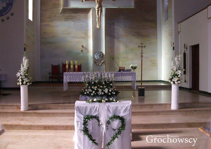 dekoracja kościoła na ślub Człuchów