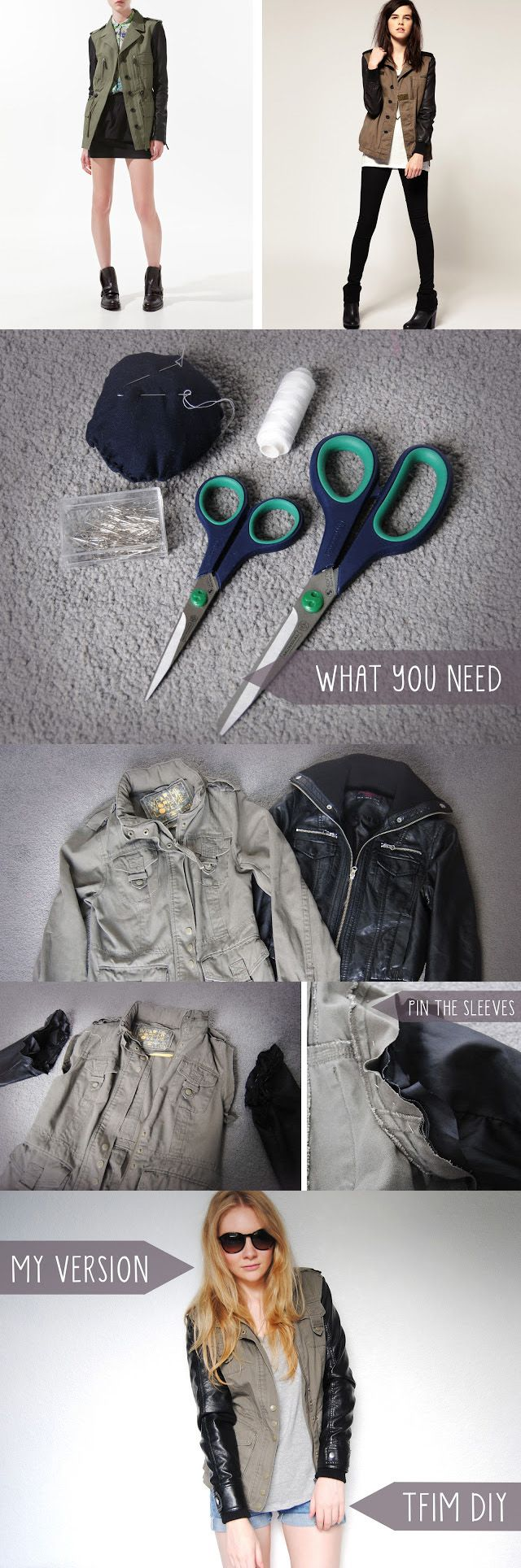 Love! Run to a thrift store and find an old leather jacket to make this! And because you just need the sleeves, you can get something that may be beat up or damaged- cheap! Plus use the body of the jacket to make a bag or anything!   10 Easy to Make – Do It Yourself Ideas  