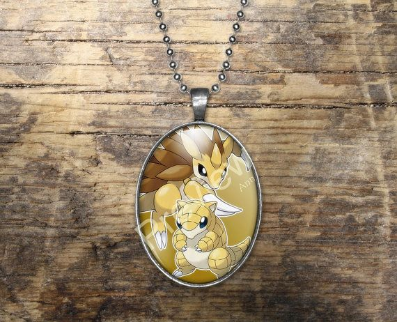 Sandshrew Sandslash Pokemon Evolution Pendant by PokemonyByAnn