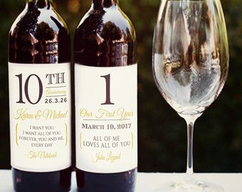 Personalized Rustic Wine Labels as Wedding Favors by BrossieBelle