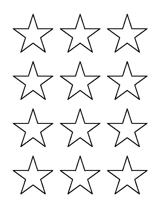 2 inch star pattern. Use the printable outline for crafts, creating stencils, scrapbooking, and more. Free PDF template to download and print at http://patternuniverse.com/download/2-inch-star-pattern/