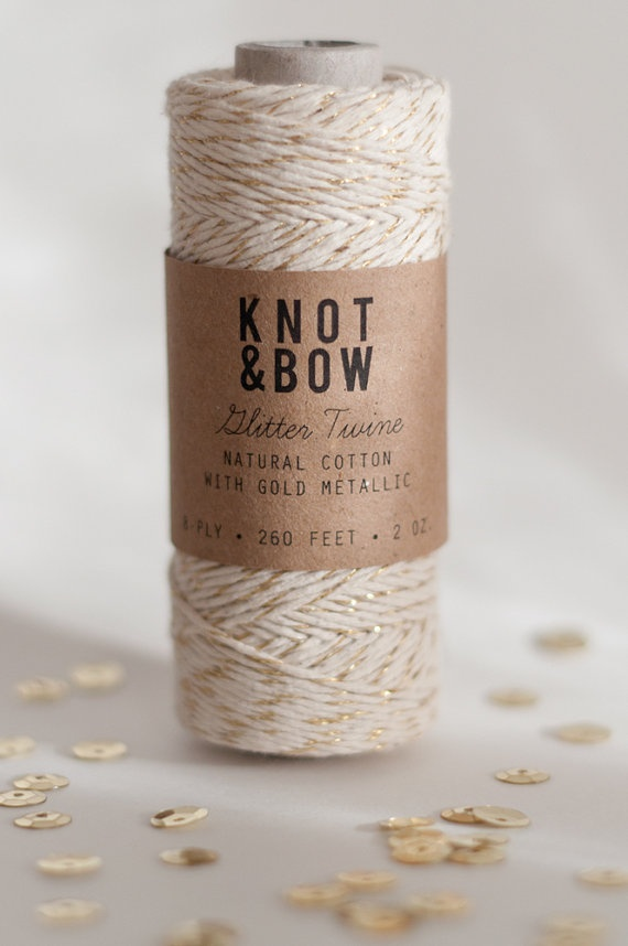 gold glitter bakers twine. omg obsessed.