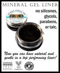 All Natural Mineral Gel Eyeliner In INTENSE BLACK   organic ingredients  easy to use eyeliner   Naturagel(tm). $9.95, via Etsy.