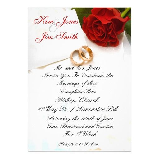 199 best Rose Wedding Invitations images – Red Rose Wedding Invitation