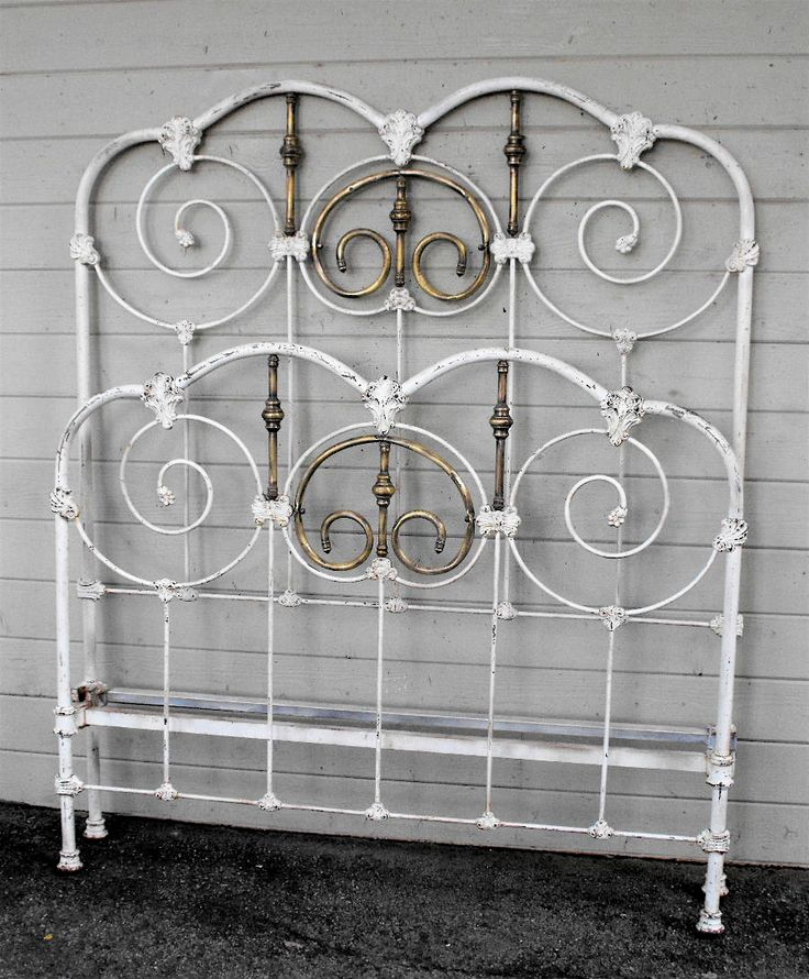 antique bed frames metal antique iron bed 12 - White Iron Bed Frame Queen