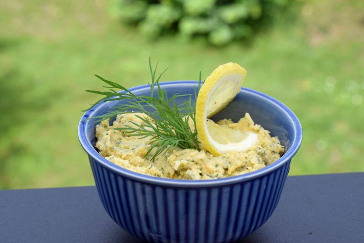 Hummus med dill och citron