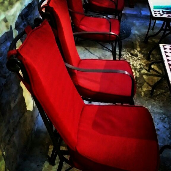 Chairs, seat, red