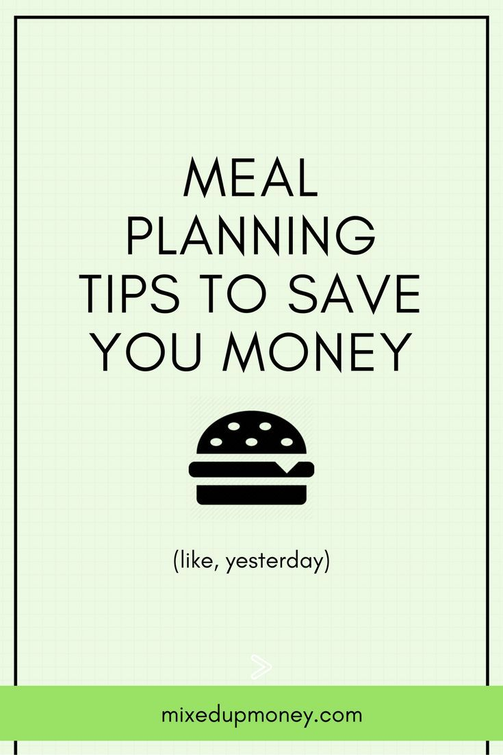 Meal Planning Tips | Save Money on Food | Meal Plan Ideas | Grocery Plans | Budget for Food