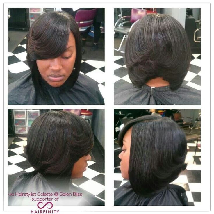african american little girl braid hairstyles : Feathered Bob