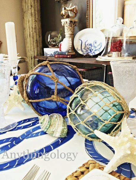 Decor Ideas for Glass Floats | ~ Home By The Sea ...